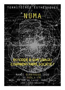 Affiche NUMA02 2016